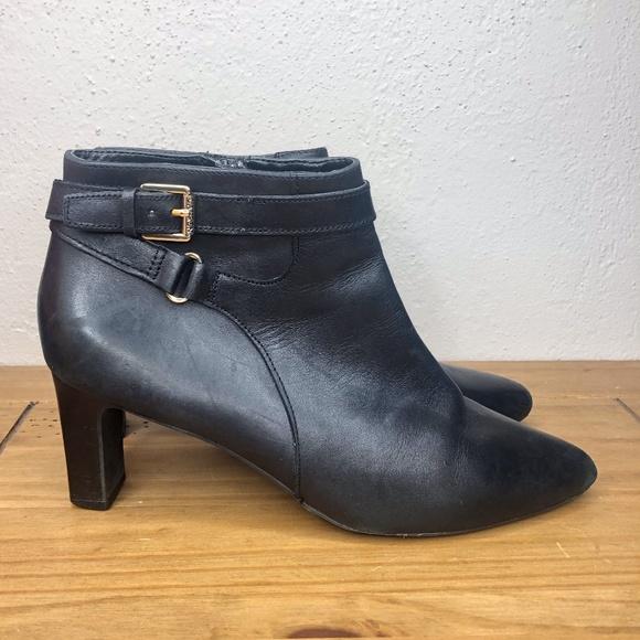 Black Leather Nara Ankle Boots | Poshmark